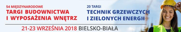 54 Międzynarodowe Targi Budownictwa 21-23 września Bielsko-Biała